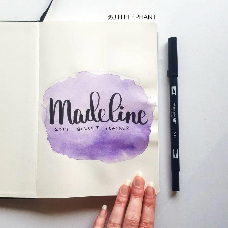 purple title Madeline