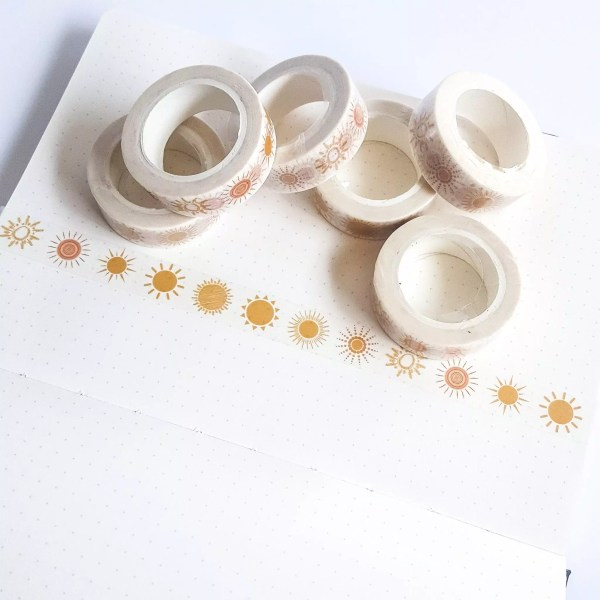 Sunshine Patterned Washi Tape