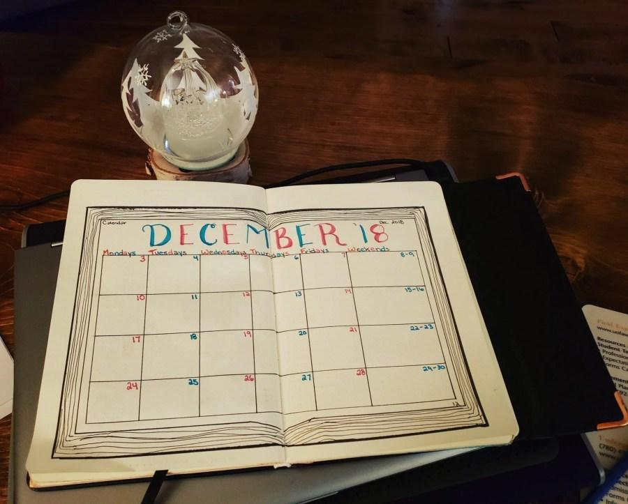 December Bullet Journal Feature | Ashlee of @scribblesofsubstance