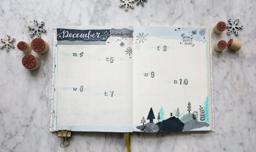 27 Magical Winter Wonderland Bullet Journal Layout Inspiration