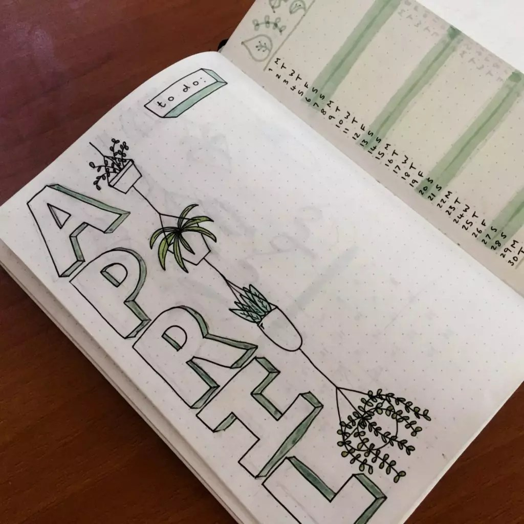 Sarah of @stationerymagpie | April Bullet Journal Feature