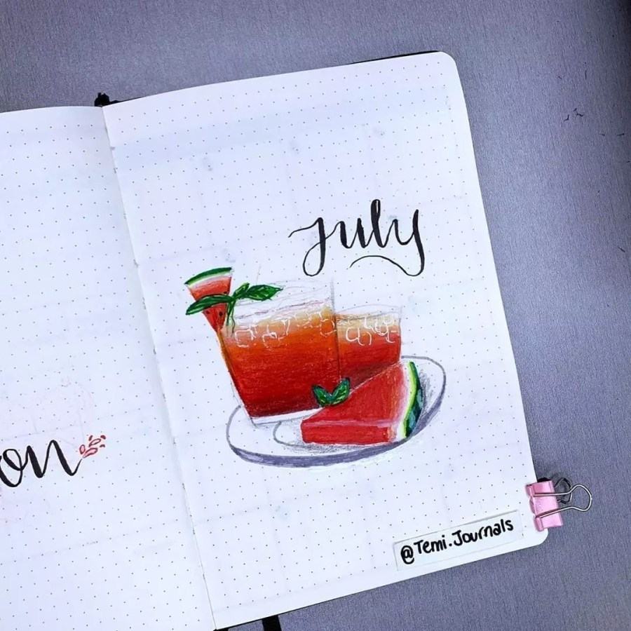 Watermelon in July by @temi.journals