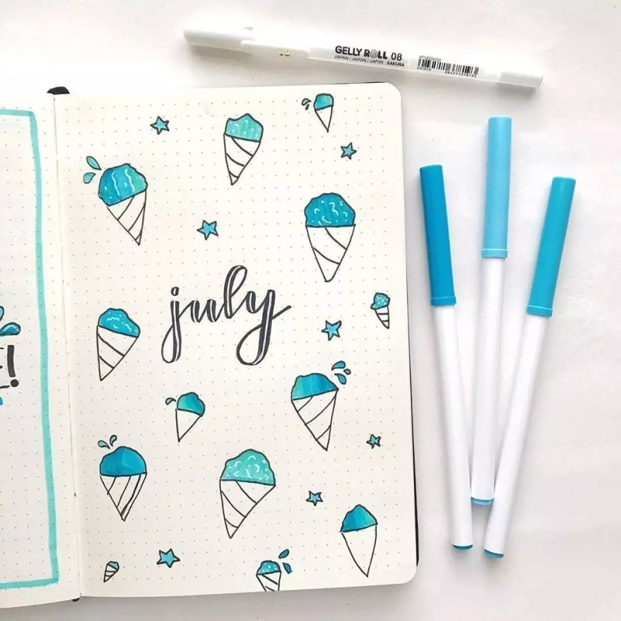 Hello Blue Snowcones! by @haleys_journal