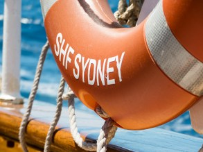 'SHF' stands for Sydney Heritage Fleet.