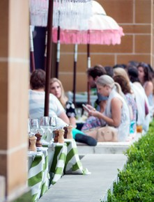 Livin' the outdoor life, pop-up gin bar, MCA.