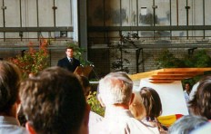 Keel laying ceremony with Duke of York, 1996-07-06.