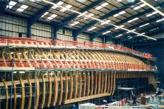 The ship taking shape, 1997-11.