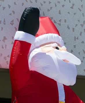 Blow-up Santa Clause.