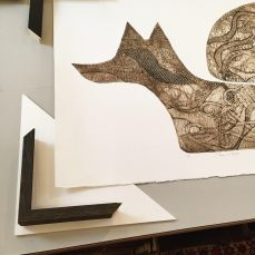 Fox in Flight frame Walsinghman Gallery
