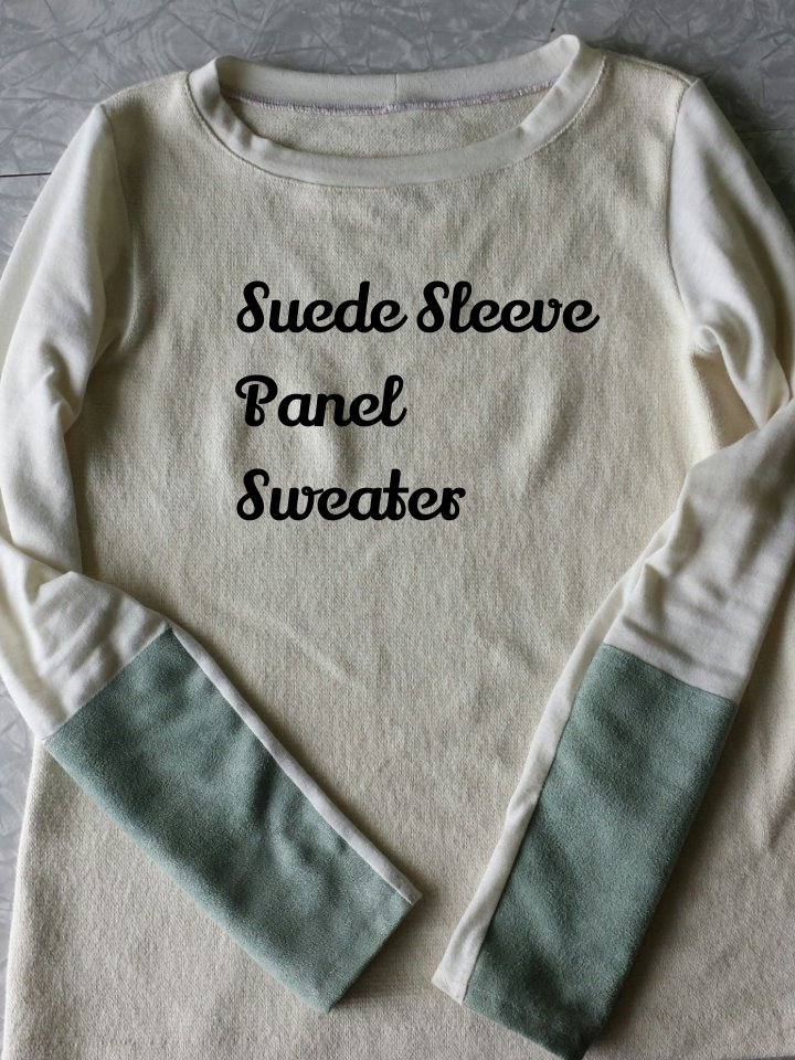 suede sleeve panel sweater: Elizabeth Made This