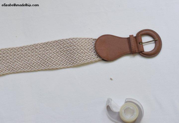 shorten a belt