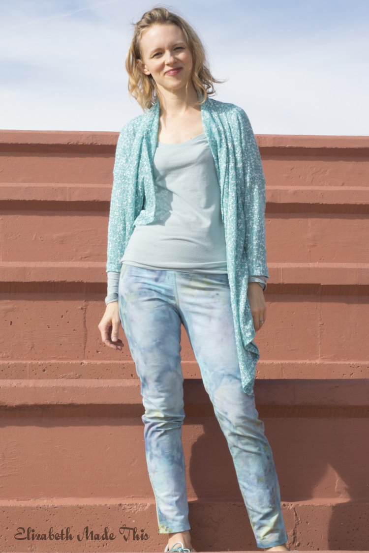 ice dyed jeggings