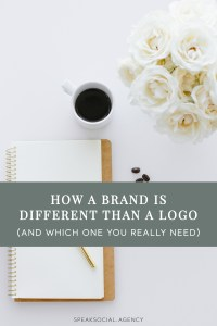 """""""Brand"""" and """"logo"""" are often used interchangeably, however they mean different things and it's important to know the difference when looking to update your overall business look."""