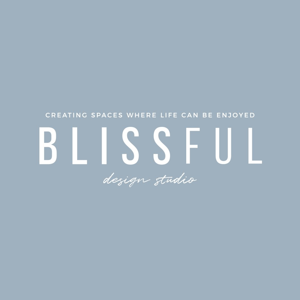 Blissful Design Studio Logo by Speak Social - minimal, modern, chic interior design logo