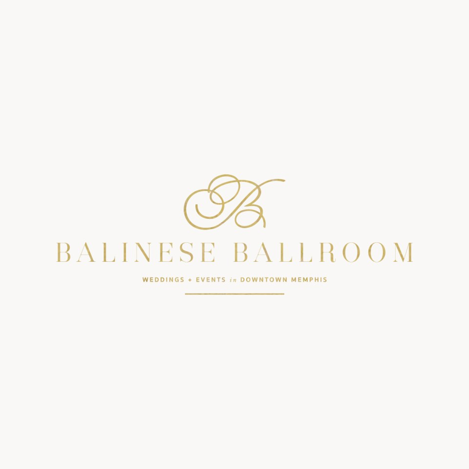 Luxurious and urban branding for wedding venue in Memphis Tennessee #logodesign