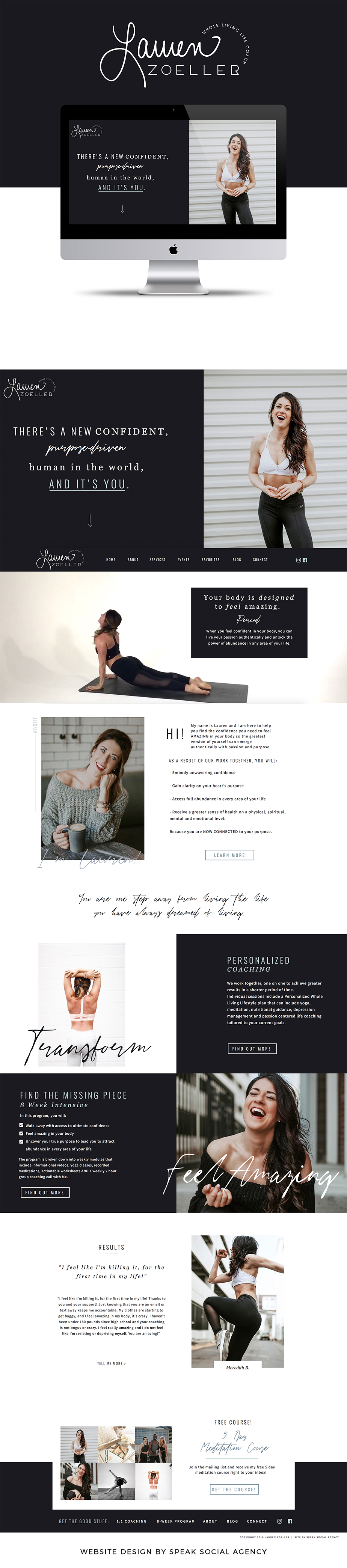 Lauren Zoeller - Website design for yoga teacher and life coach in Nashville, TN