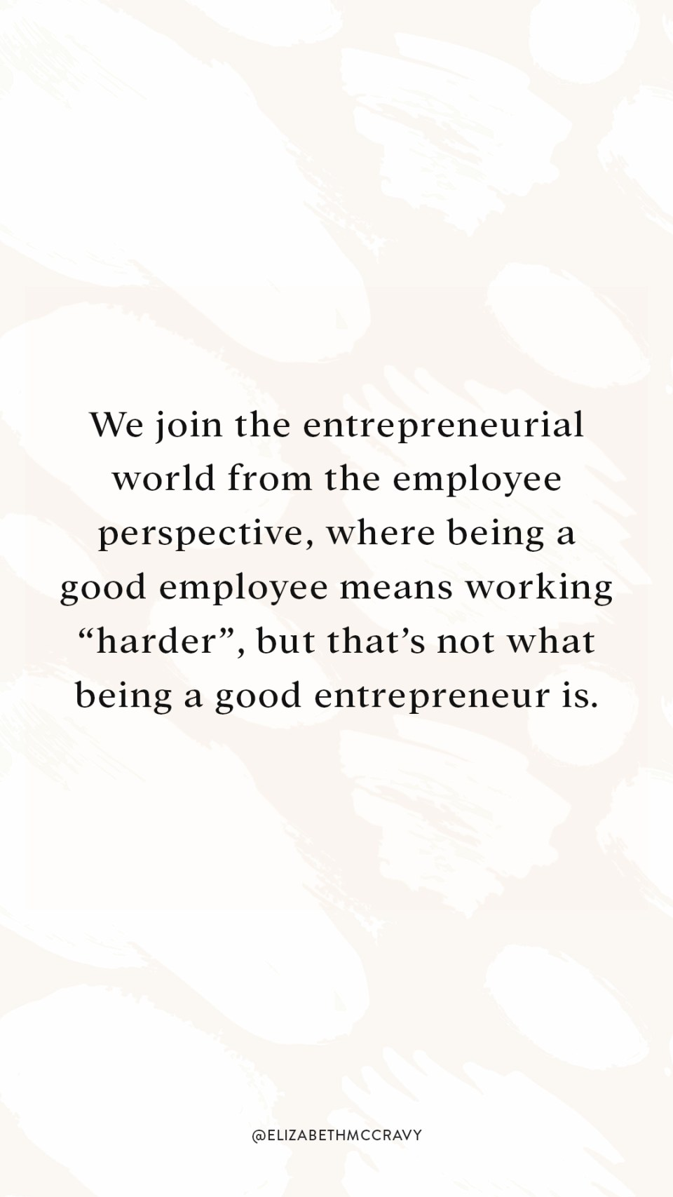 "We join the entrepreneurial world from the employee perspective, where being a good employee means working ""harder"", but that's not what being a good entrepreneur is. If you're interested in how you can be more productive, scale your business, and work past mental blocks that are holding you back, then this podcast episode is for you."