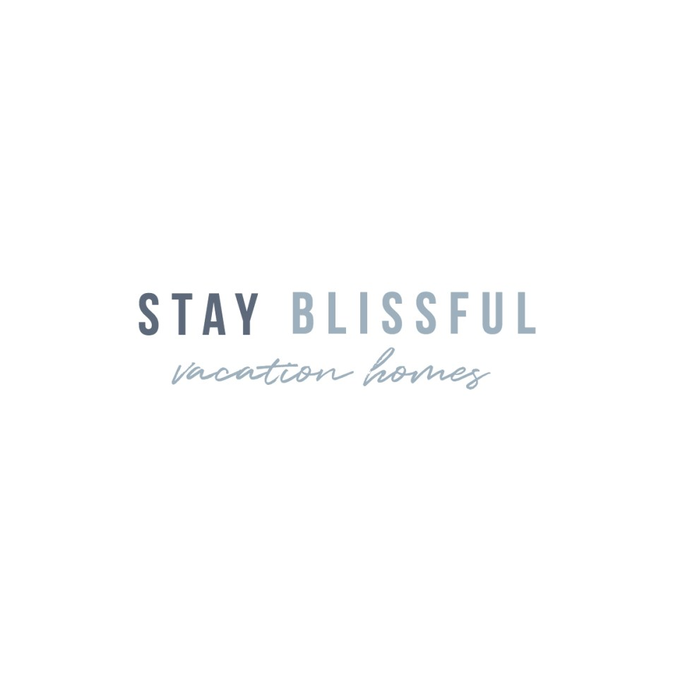 Stay Blissful Vacation Homes Logo - Olivia James Template for Showit5 for interior designers and home stagers