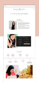 Website template customization from Elizabeth McCravy Shop. Beautiful life coach website templates on the Showit5 platform! This template is excellent for coaches, consultants, educators, and personal brand businesses.