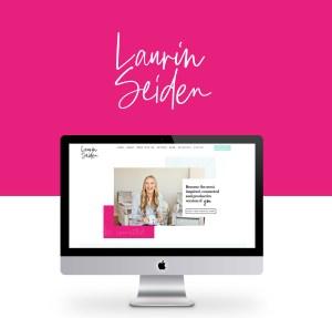 Life coach hot pink website design inspiration