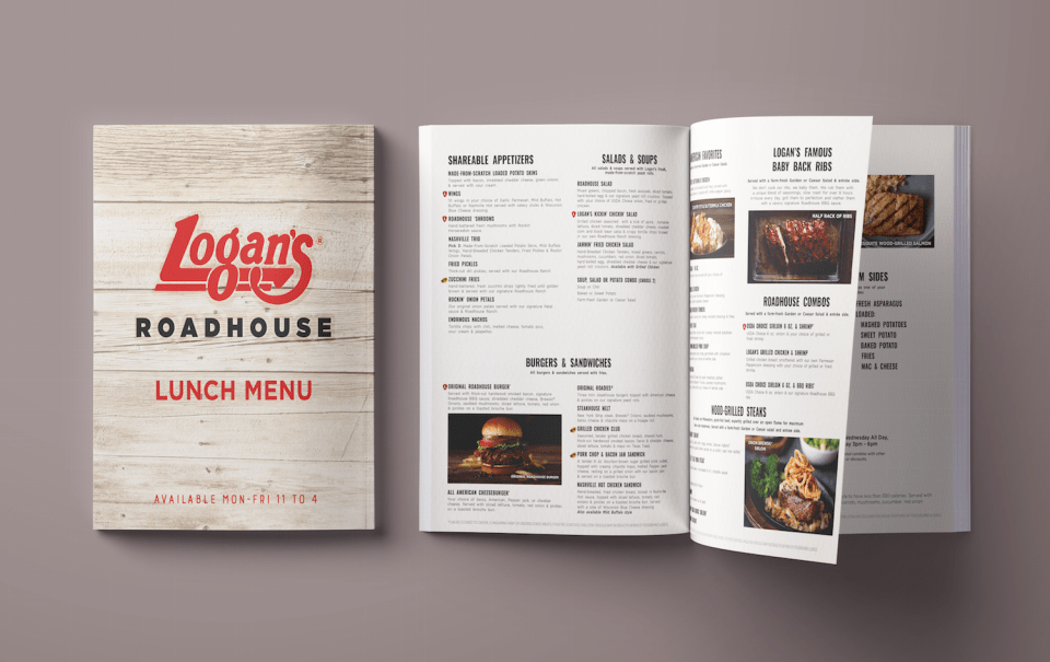 Logan's Roadhouse Menu Design by Elizabeth McCravy