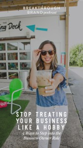 How to stop treating your business like a hobby, and step into the role of CEO. You can't ecept CEO results, while acting like a freelancer. Breakthrough Brand Podcast by Elizabeth McCravy