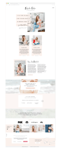 Premium Showit website template for coaches and personal brand businesses - Showit5 Template by EM Shop
