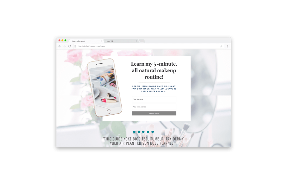 Landing Page Templates, Lead Page Templates for Showit5 - Gorgeous Opt-in pages for Showit - ConvertKit, FloDesk, MailChimp, MailerLite