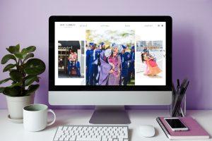 Beautiful Showit website template for San Francisco wedding photographer, Zoe Larkin.