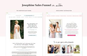 Jessica Brees using the Josephine sales funnel designed by Elizabeth McCravy for her photography offers.