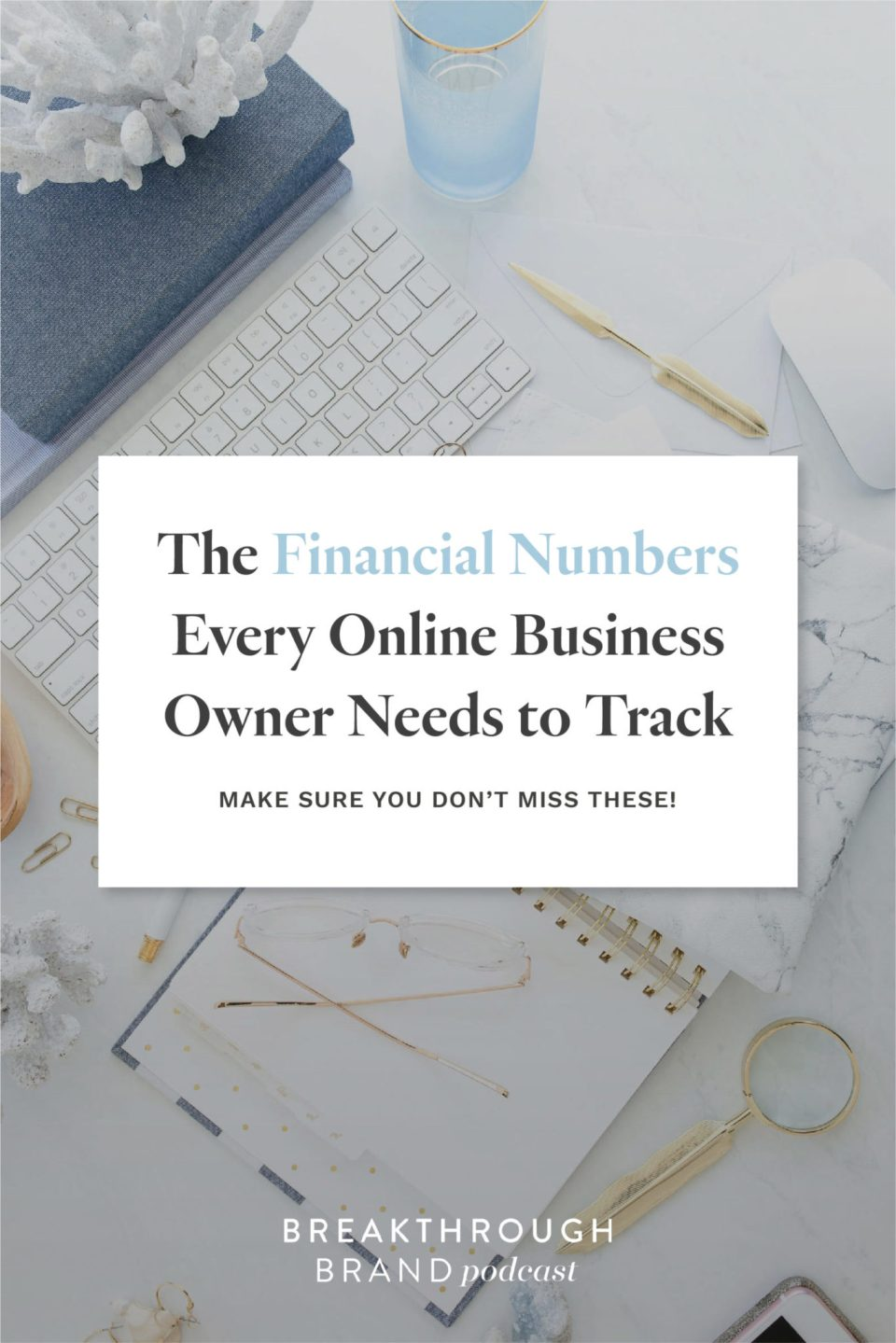 Don't miss these financial numbers that every online business owner needs to be tracking with Elizabeth McCravy on the Breakthrough Brand Podcast.