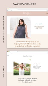 See the Liane template from EM Shop totally customized into the beautiful website for Leith from Leithal and Co Designs!