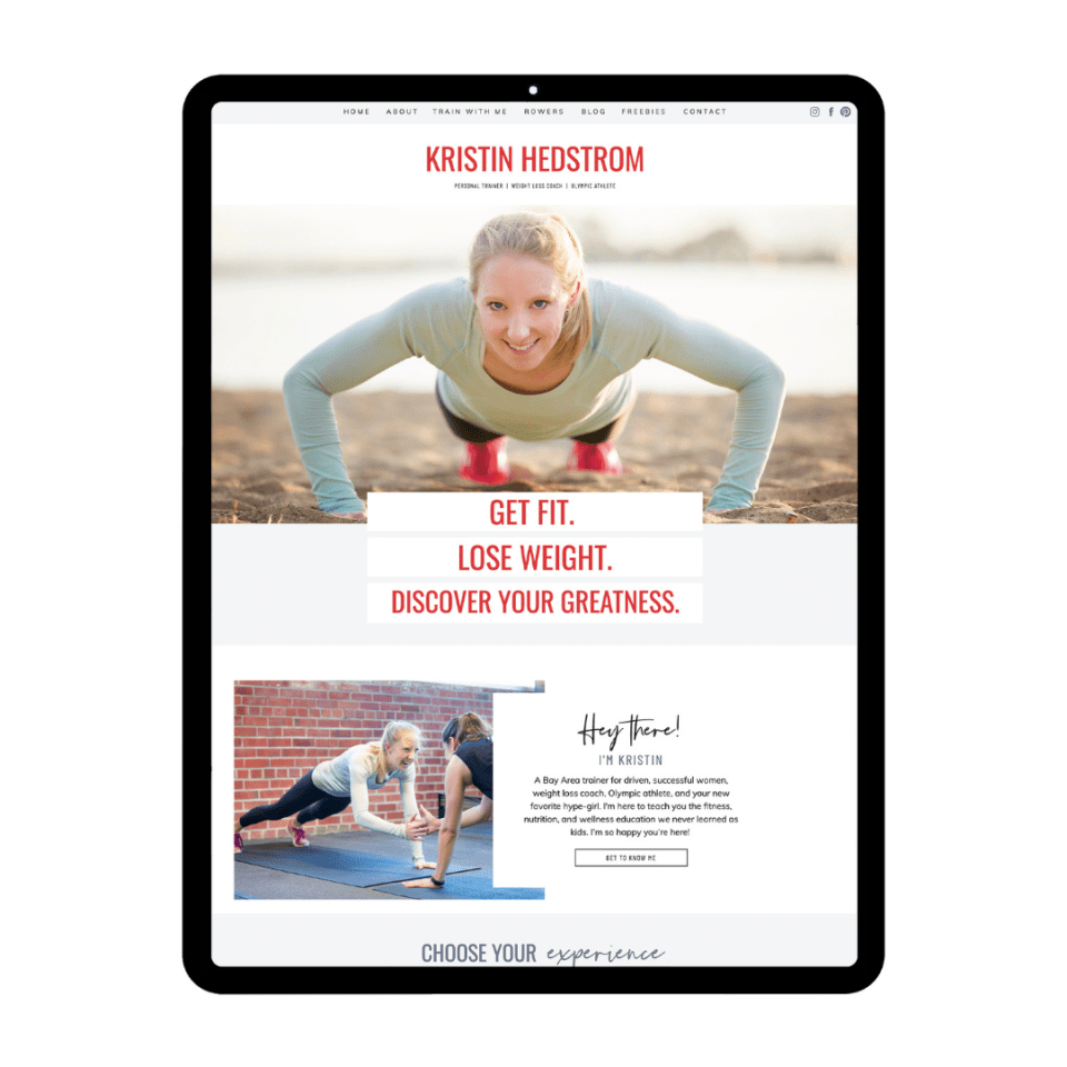 See Kristin Hedstrom's life coach web design template from Elizabeth McCravy.
