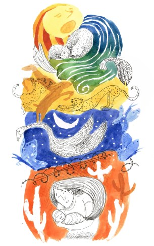 "Illustration of Nikki Giovanni Poem, ""Migrations"""