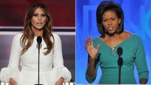 foto de Melania y Michelle Obama