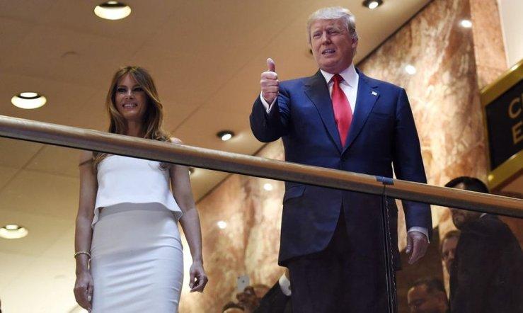 foto de Donald y Melania Trump