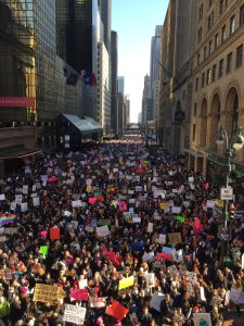foto de protesta en New York