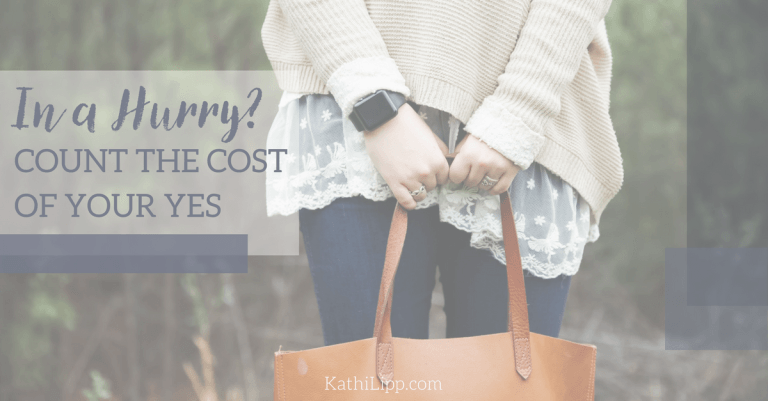 "Guest Blogging Today about the Cost of ""Yes"""