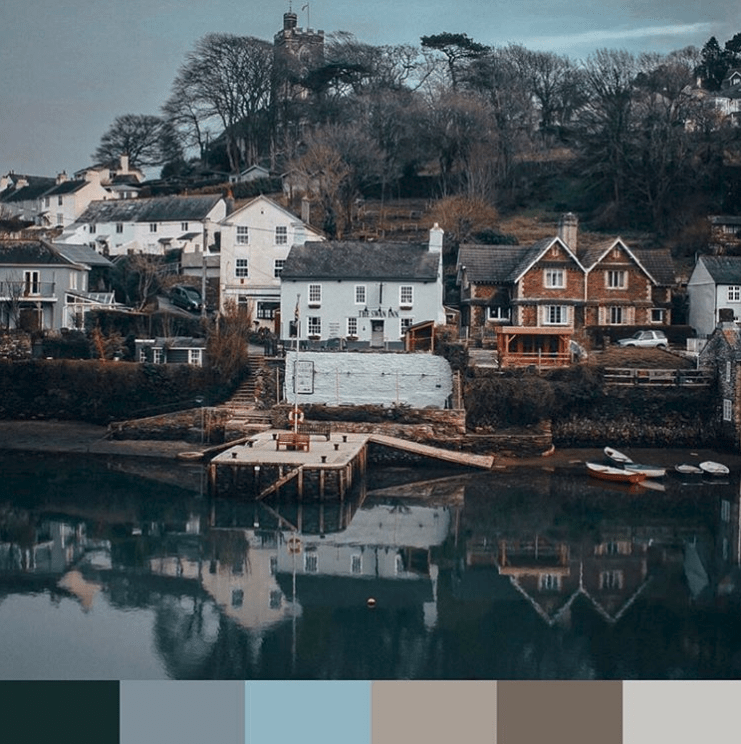 Inspired colour palette