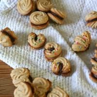 Cardamom Butter Cookies w. Mocha Ganache
