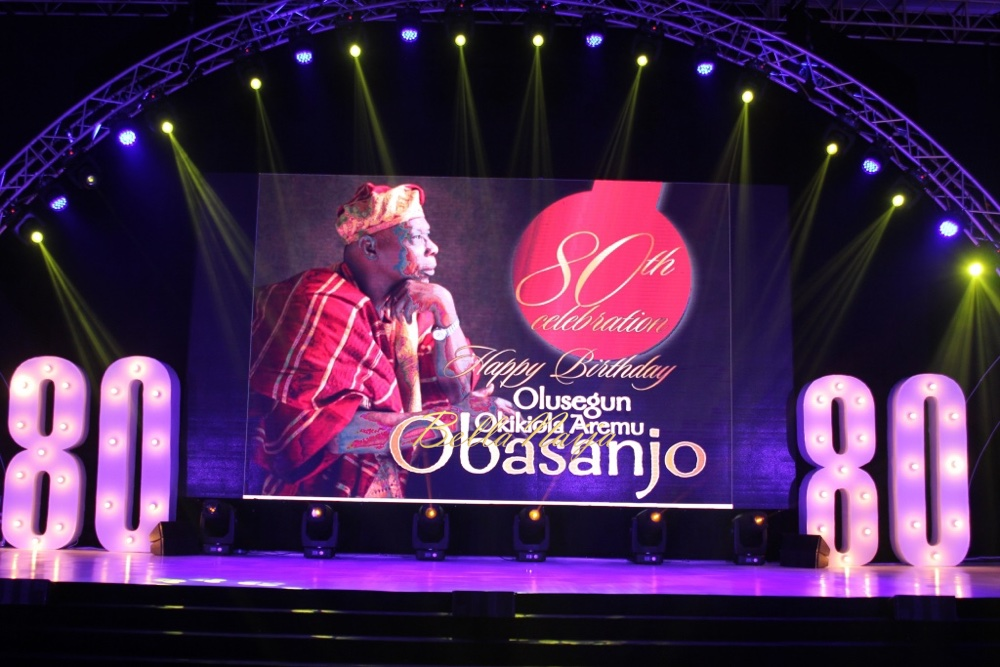 A Chronological Display of Baba's Life! See Elizabeth R's Stunning Décor at Former President Olusegun Obasanjo's 80th Birthday Party