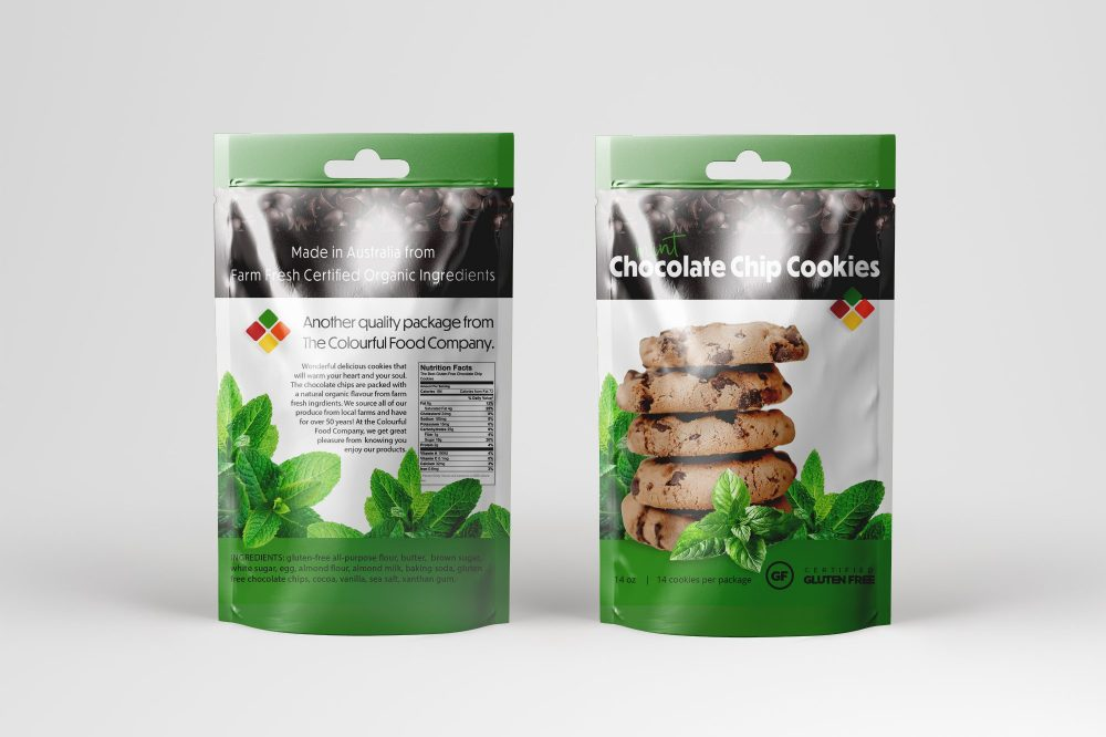 Package Design Cookies Colourful Food Company Australia