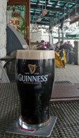 At the Irish Pub ― where else would we go for our après-ski two days before St. Patrick's Day?