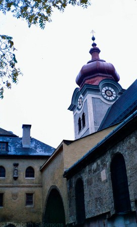 The Nonnberg Abbey where Maria was a postulant.
