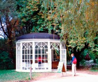 The gazebo now stands on the grounds of Hellbrunn Palace.
