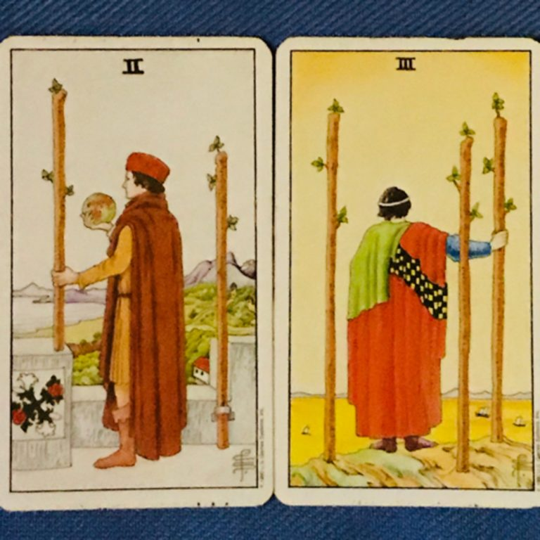 Aries: The 2 & 3 of Wands