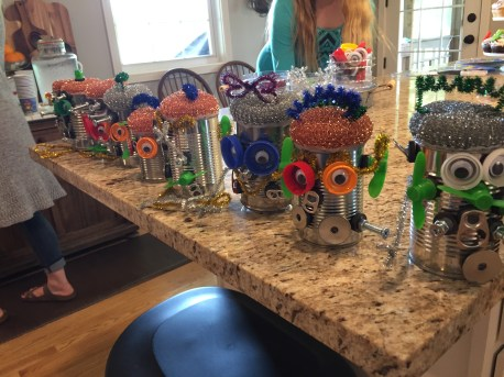 Robot Crafts. Seriously, Katy incredibly creative.