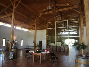 Tasting room at Vignobles des Verdots