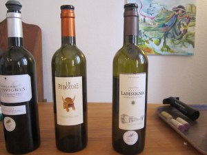Tasting wine at Chateau Ladesvignes