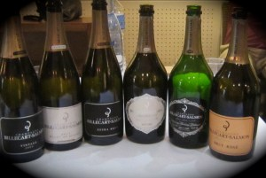 Suite of Billecart-Salmon champagnes for tasting lunch